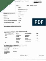 Resume of Clinton-Era Pentagon Staffer Brian Sheridan from 9/11 Commission Files