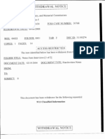 Withdrawal Notice for 9/11 Commission Interview Notes