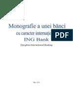 Monografie a Unei Banic Cu Caracter International ING Bank