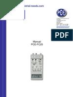 Manual Pce Fc25