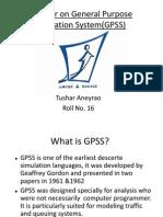 General Purpose simulation System (GPSS)