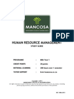 MBA1 Human Resource Management Jan 2013