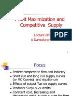 Chapter 8 Profit Maximization &Cmptitive Supply