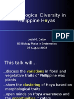 Morphological Diversity in Philippine Hoyas