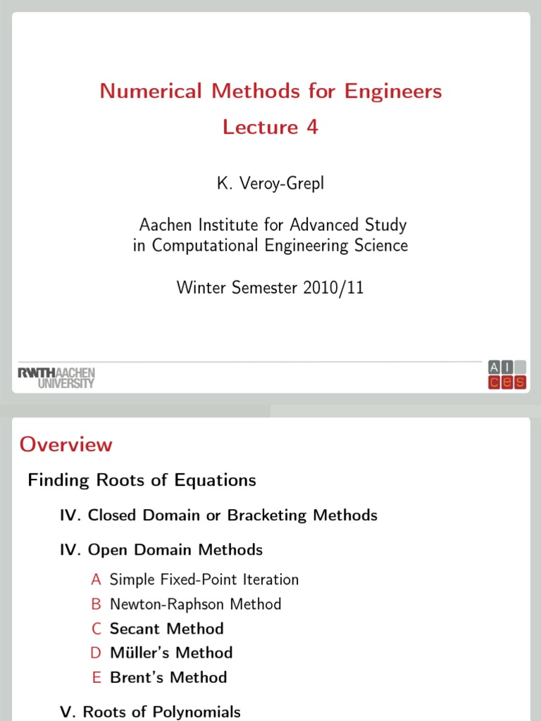 04 Lecture   Numerical Analysis   Polynomial