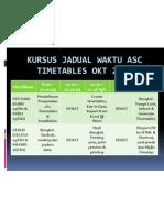 Kursus Jadual Waktu Asc Timetables Okt 2008
