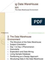 The Data Warehouse Environment - Building the Data WareHouse