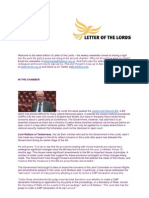 Letter of the Lords - March 28, 2013