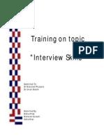 Training on Interview Skills