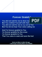 forever grateful