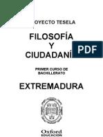 Programacion Tesela Filosofia y Ciudadania 1 BACH Extremadura