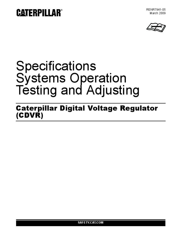 cat cdvr wiring diagram cat image wiring diagram caterpillar digital voltage regulator cdvr electric generator on cat cdvr wiring diagram