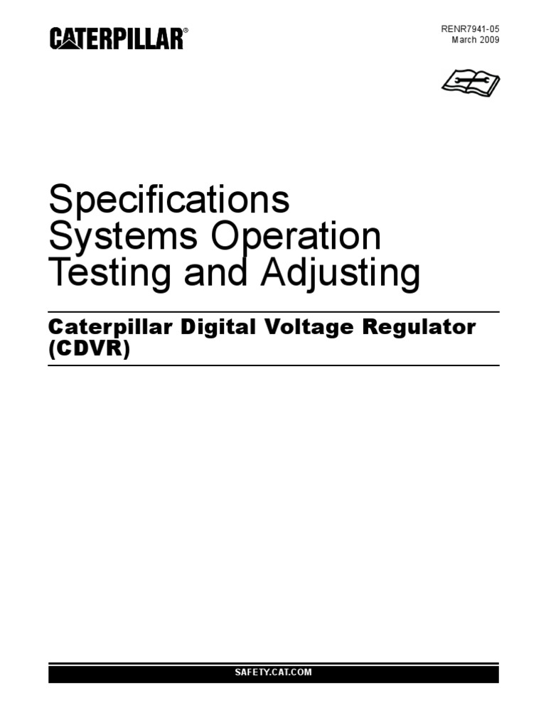 Caterpillar Digital Voltage Regulator (CDVR) | Electric Generator ...