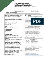 Newsletter 3-28-13