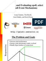 Comparing and Evaluating epoll, select and poll Event Mechanisms