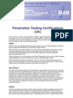 Certification Summary