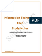 Information Technology Study Notes - Copy