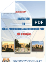 Invitation to All Pakistan Declamation Contest 2013 UoG