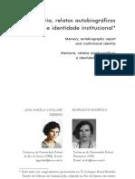 Ana Paula Ribeiro - Memoria, Relatos Autobiograficos