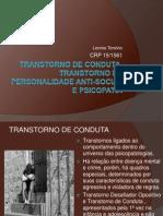 4 -Transtorno de Conduta, Transtorno de Personalidade Anti-social (1)