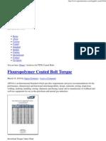 API Flange Bolting Torque Chart