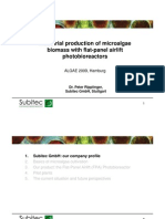 Industrial Production of Microalgae