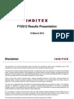 Grupo INDITEX Pres Anual 12