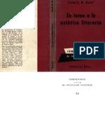 Bonet,Carmelo - En Torno a La Estetica Literaria 1959