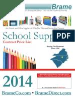 Brame's 2014-2015 School Supplies Contract Price List