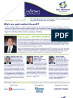 5th Annual Investment Conference Flyer