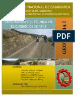 EXPLORACIÓN GEOTÉCNICA EN EL CASERÍO DE CHAMIS