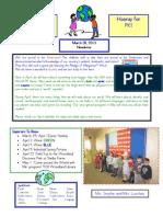 Newsletter March 28, 2013