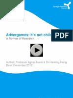 Advergames Report - UK Families and Parenting Institute