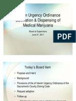 Sacramento County cannabis ordinance - PowerPoint