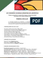 Primera Circular Congreso SAL 2014