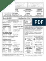 Bulletin - March 24, 2013