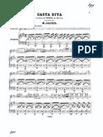 Bellini, V. - Casta diva de la ópera Norma para violín y piano