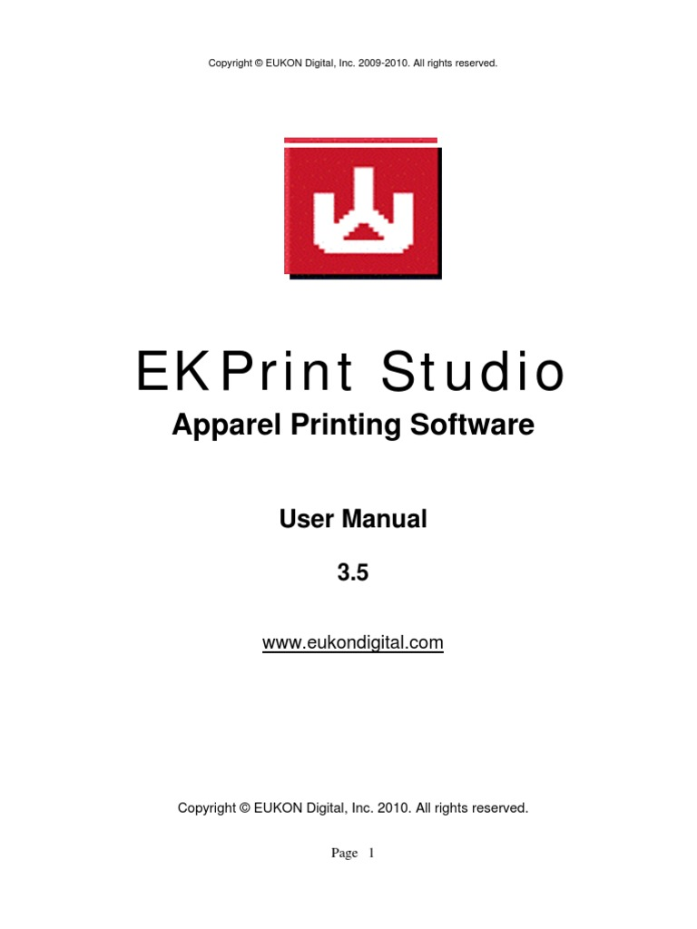 Ekprint serial number lost
