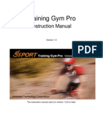 Training Gym Pro Instruction Manual v1.0