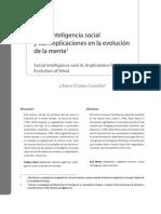 1. Inteligencia social y sus implicaciones en la evolución de la mente