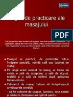 Reguli de Practicare Ale Masajului