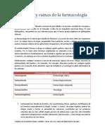 Definición y ramas de la farmacología
