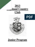 2013 Highland Country Club Junior Program