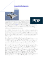 Der Dritte Weltkrieg Hat Bereits Begonnen- 22. 3. 2013