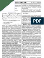 RAD Nº 003-2006-APNDIR,  Requisitos para certificar áreas específicas dentro de una instalación portuaria IPE