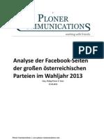 Analyse der Facebook Seiten der österreichischen politischen Parteien