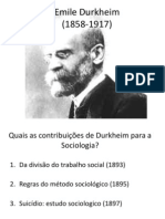 Durkheim - Slides BOM!