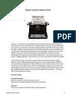 Memoir Course Teacher's Guide_reDesign
