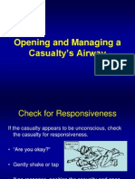 Lesson 3 Opening and Managing a Casualty's Airway
