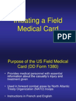 Lesson 7 Initiating a Field Medical Card
